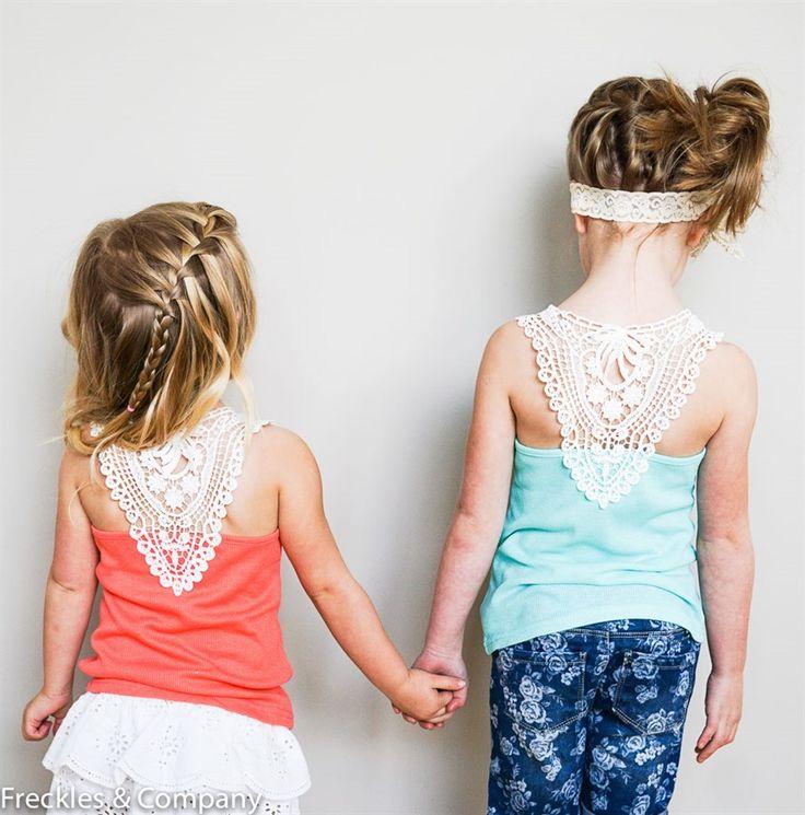 Children's Spring Lace Back Tanks {Jane Deals}