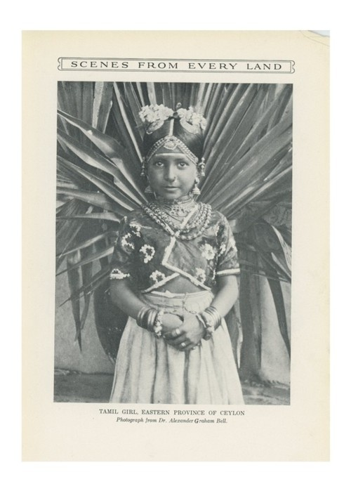 Tamil girl from the Eastern province of Ceylon.