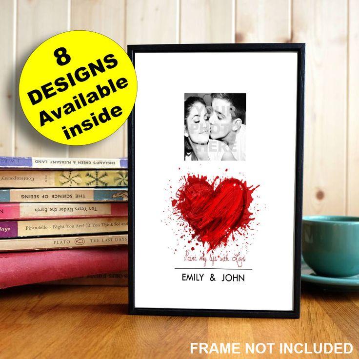 Personalised Valentines Gift Photo Print for Boyfriend Girlfriend