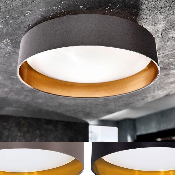 Maserlo LED Taklampe 40,5 cm - Maserlo er en serie klassiske og vakre taklamper med runde skjermer i stoff i sort eller cappucino farge. Innsiden har en vakker gull farge som vil gi deg et behagelig, gyllent lys. Denne plafonden har en skjerm i hvit plast og varmhvite LED lyskilder.