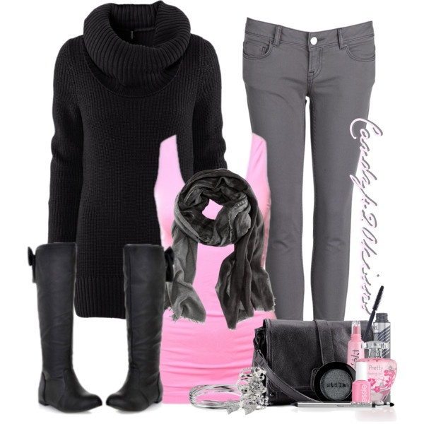 Cute but wouldn't see pink under grey sweater
