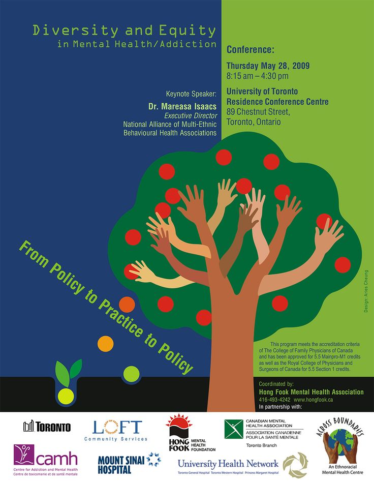Mental Health Conference poster design by Aries Cheung