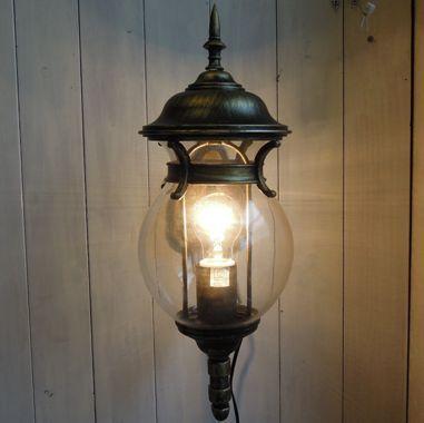 壁付照明 アンティークブラケットランタン ガス灯モチーフ 1灯式(ブロンズアイアン)