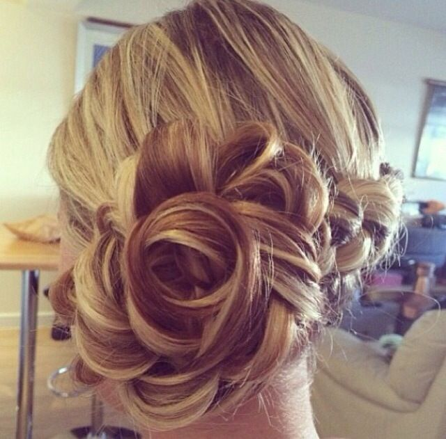 Rose Hair Bun Wedding Pinterest Buns Hair And Rose Hair