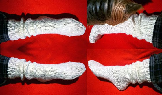 Rakkaat villasukat. Just love the wool socks.