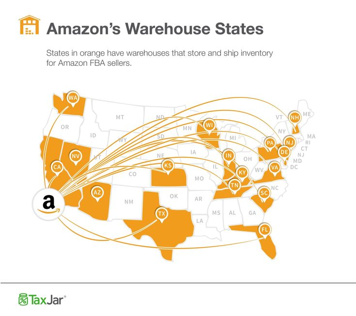 Where are the Amazon Fulfillment Centers located? In some states, this info is key to ensuring FBA sellers are collecting and remitting sales tax correctly.