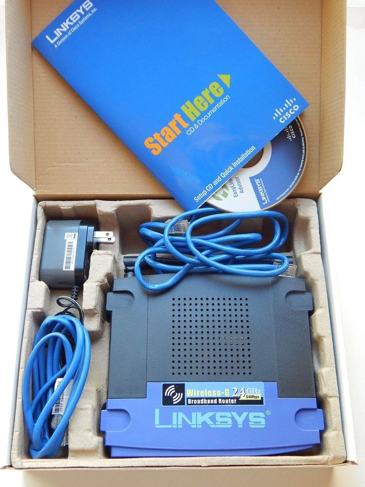 Linksys Wireless-G Broadband Router #WRT54G Cisco Computer Router 4-Port #Linksys