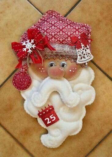 #Babbo Natale#feltroe pannolenci