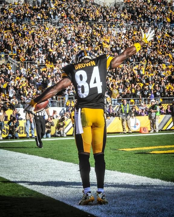 PITTSBURGH STEELERS~# 84 ANTONIO BROWN 11/15/15