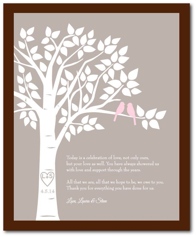 Law Thank you GIft for Parents Gift for Mom Wedding Gift for Parents ...