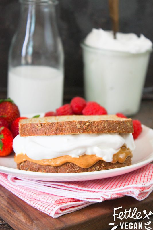 Vegan Fluffernutter Sandwich