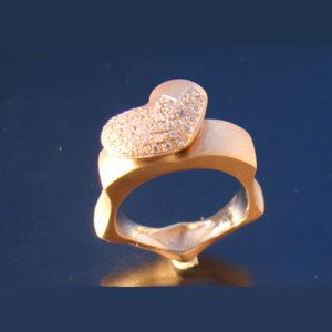 My Heart Ring Valentine gift by arwcreation on Etsy, $188.00