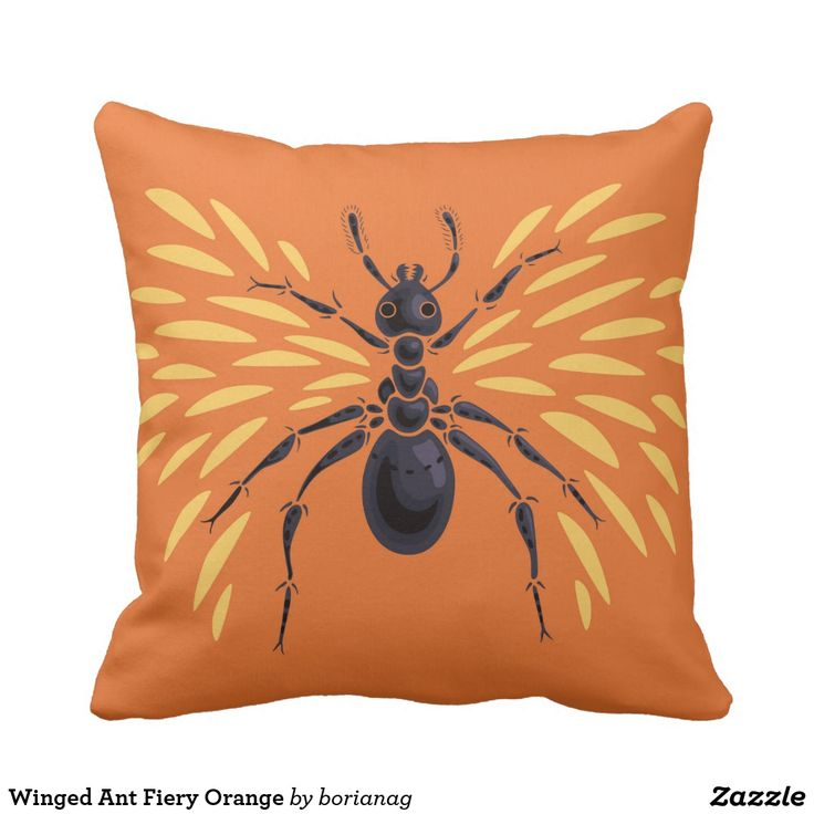 Tiny Ants In My Bathroom: Winged #Ant Fiery #Orange #Pillow