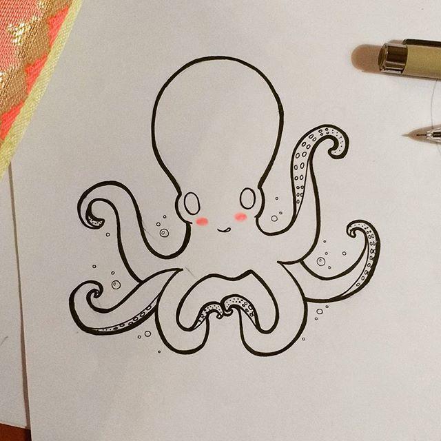 Molusquito  #pulpo #octopus #sea #cute #nice #lovely #sketch #sketching #ink…