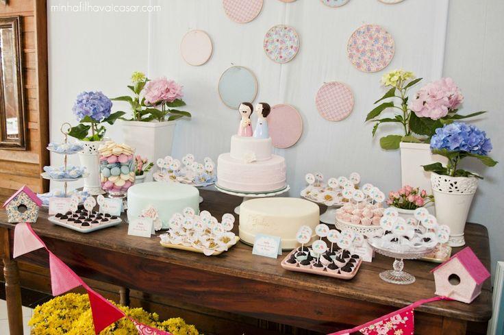 decoraçao mesa bolo casamento diy - Pesquisa Google