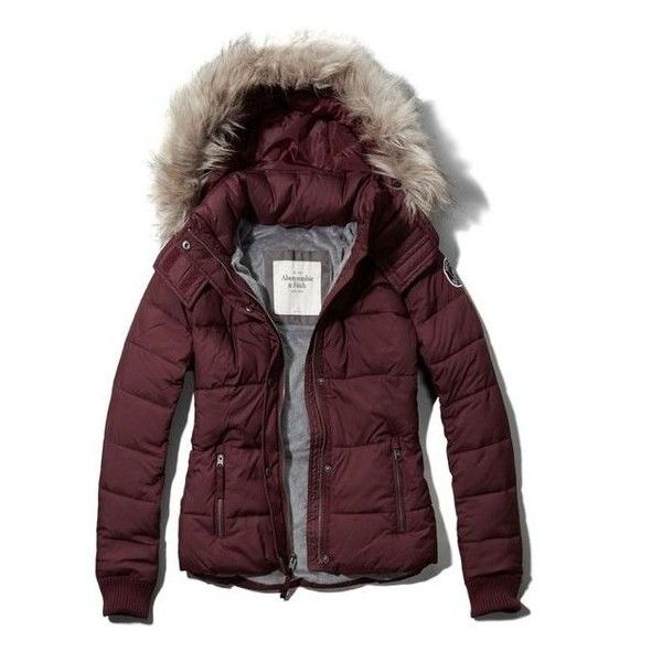 Abercrombie Fitch Classic Puffer Jacket ❤ liked on Polyvore featuring outerwear, jackets, brown jacket, abercrombie fitch jacket, puffer jacket, brown puffer jacket and puffy jacket