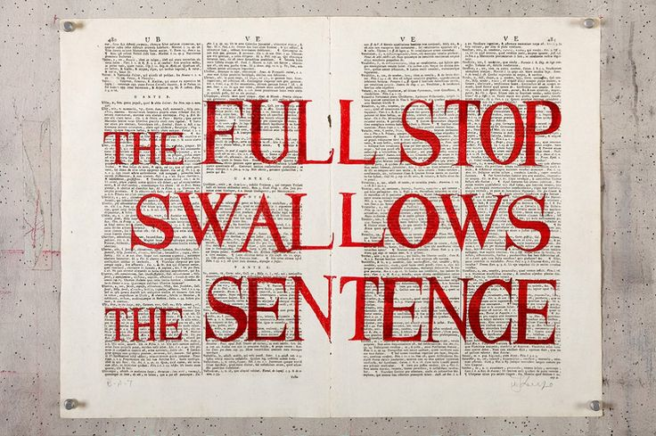 The Full stop Swallows the Sentence, 2012, Silkscreen on Book Page: Pages from Septem Linguarum Calepinus 1746