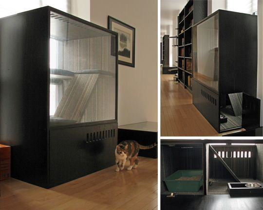 Neat idea! Way better use of an entertainment center of course!