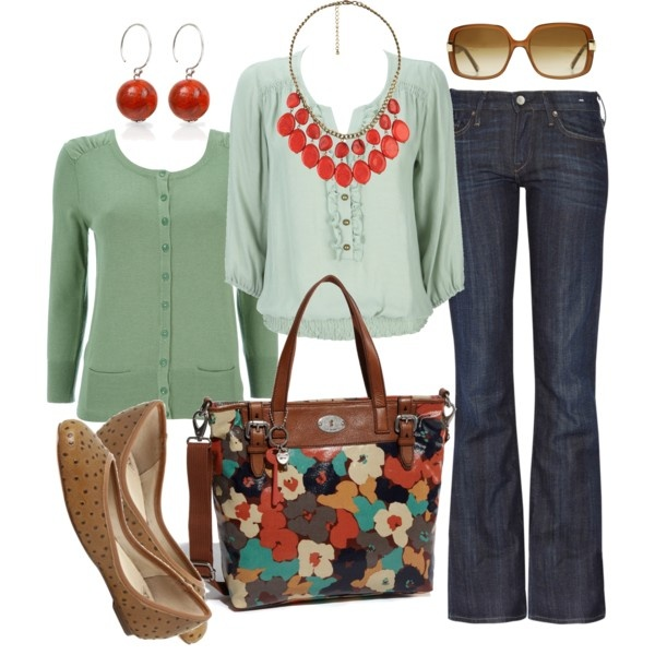 mint & redColors Combos, Fashion, Htotheb Polyvore Com, Style, Mint Coral, Red And Mint Outfit, Hershey Kisses, Spring Outfit, Dreams Closets