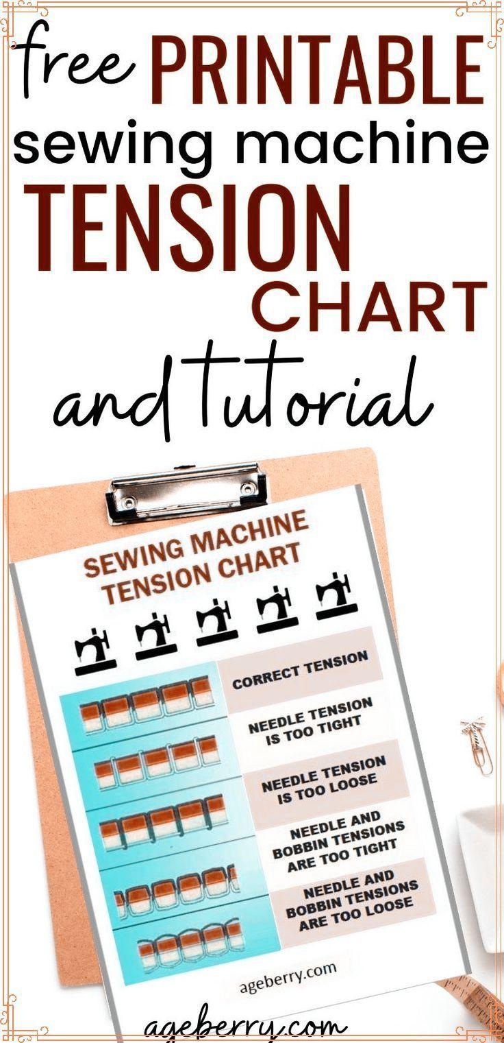 Sewing Machine Tension Chart : sewing, machine, tension, chart, Sewing, Machine, Tension, Adjustment, Tension,, Repair,, Basics