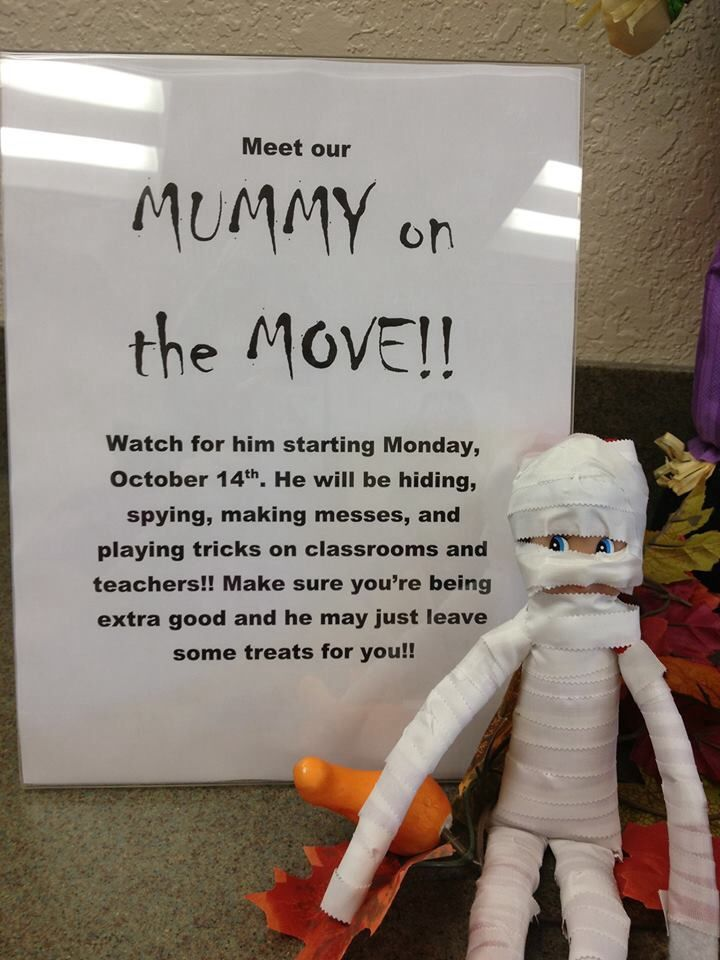 Cute way to use elf on the shelf for Halloween :)