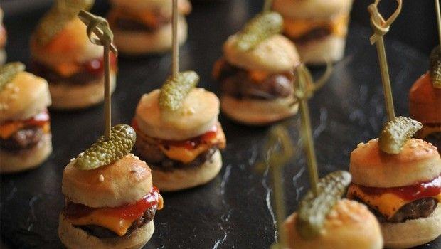 Recettes apero dinatoire rapide : mini hamburgers
