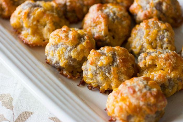 Keto Sausage Balls... LCHF... Ingredients...     1 lb. Breakfast Sausage...     1 Large Egg...     1 Cup Almond Flour...     8 Oz Cheddar Cheese...     1/4 Cup Grated Parmesan...     1 Tbsp Butter (or Coconut Oil)...     2 tsp Baking Powder...     1/4 tsp Salt...  20-24 balls... Bake 350F for 16-20 mins.