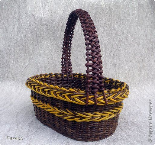 Поделка изделие Плетение Косы Трубочки бумажные фото 1