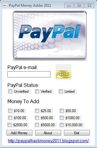 PayPal Hack Android app Adder Generator soft free download install add unlimited money in PayPal account guaranteed working free soft hack cheat money adder