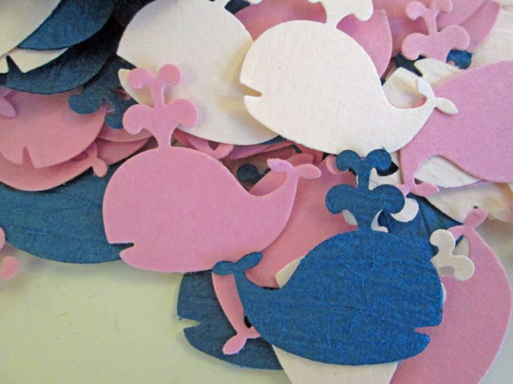 WHALE Baby Shower, Baby Shower Confetti, Girl Baby Shower, Nautical Theme, Whale Theme, Custom Confetti (100 Count). $12.00, via Etsy.