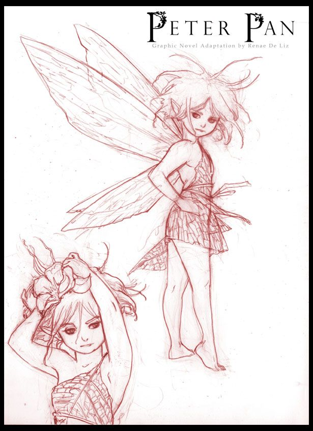 Peter Pan Comic: TINKERBELL Character Sketch for PETER PAN Graphic Novel