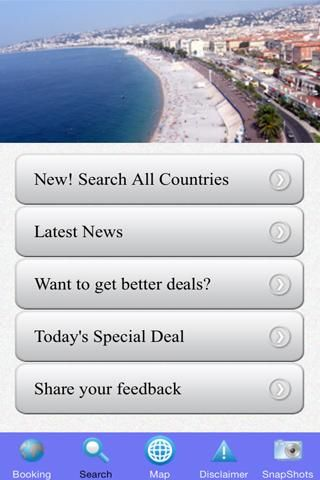 Enjoy fantastic discounts of up to 80% when you use this Nice Hotels Best Deals App!<p>Save on room rates and lodging when you use this app to find and book your hotel in Nice. <p>Compare hotel rates and find the lowest rates from Booking.com. Booking.com is the leading online accommodation reservations agency worldwide. They have at present over 332,000 directly contracted hotels with the best rates guaranteed.<p>Booking.com offers travellers the ability to make the best choice to meet…