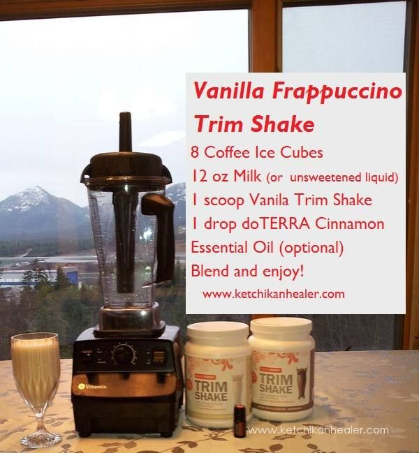 Vanilla Frap Trim Shake. To explore and purchase essential oils visit: http://www.mydoterra.com/manuelahayes/#/