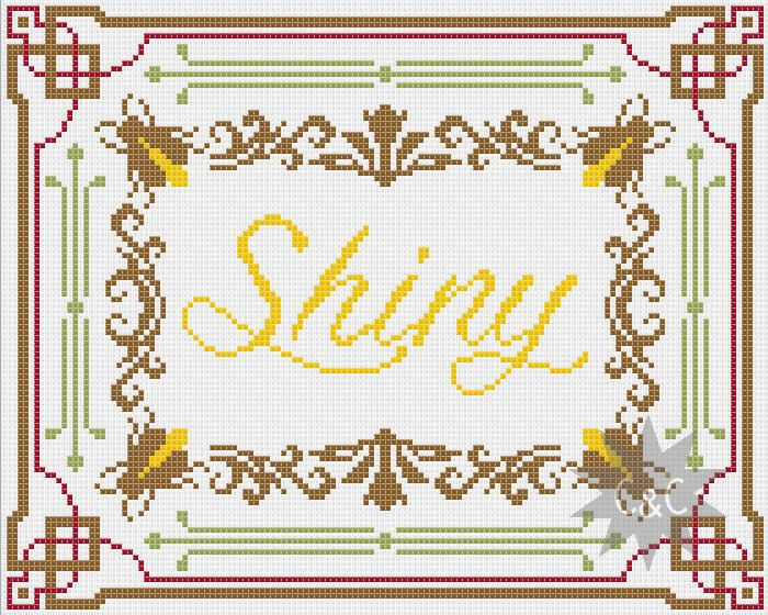 Firefly 'Shiny' traditional style counted cross stitch sampler pattern by CapesAndCrafts on Etsy https://www.etsy.com/listing/219253463/firefly-shiny-traditional-style-counted