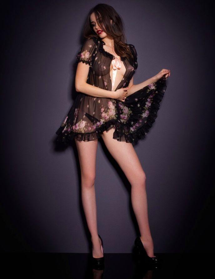 Sarah Stephens vampish for Agent Provocateur http://LOOKsBOOK.cz