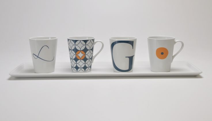 Custom decoration on mugs