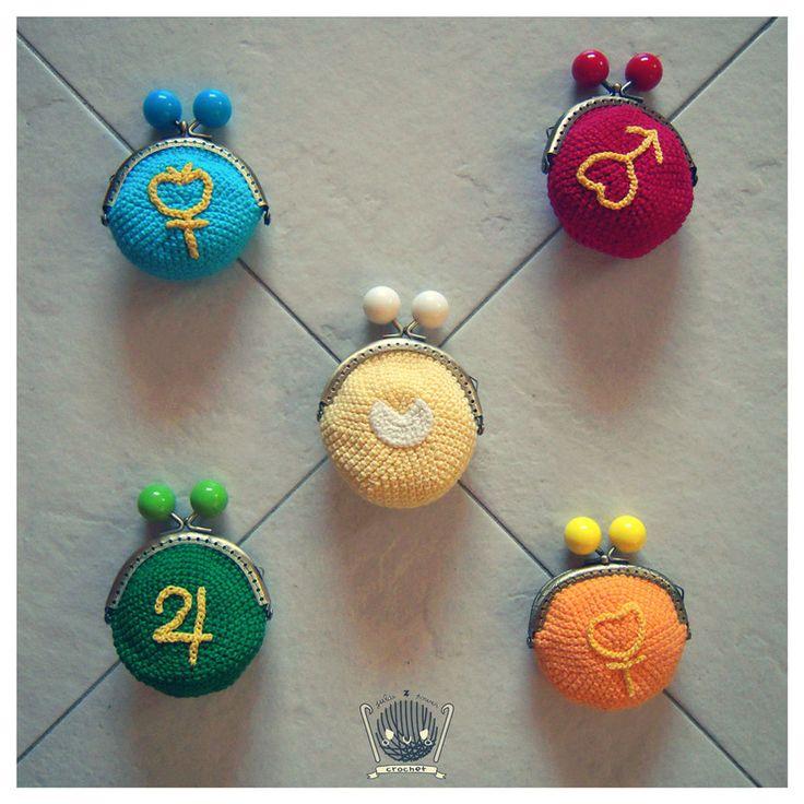 Sailor Moon Crochet Symbols Purses by Tofe-lai on DeviantArt