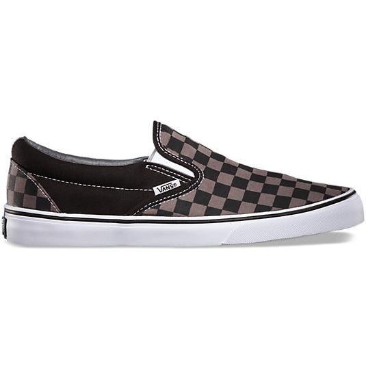 Vans Classic Slip on Sneaker Skate Schuhe Overwashed Black Checker