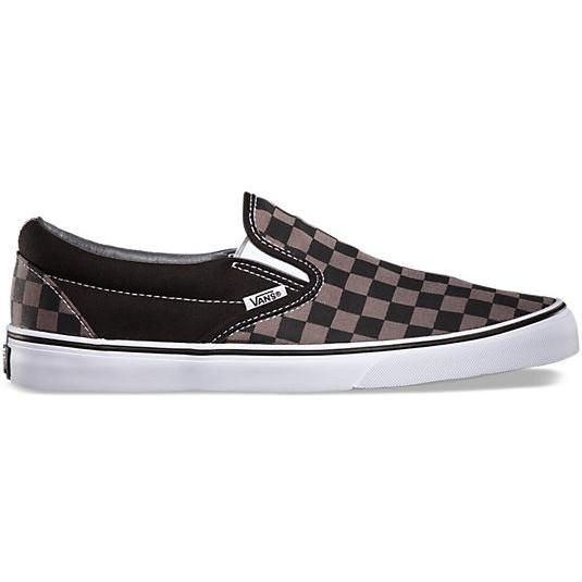 Vans Checkerboard Slip-on in Black/Pewter Check as seen on Liam Hemsworth