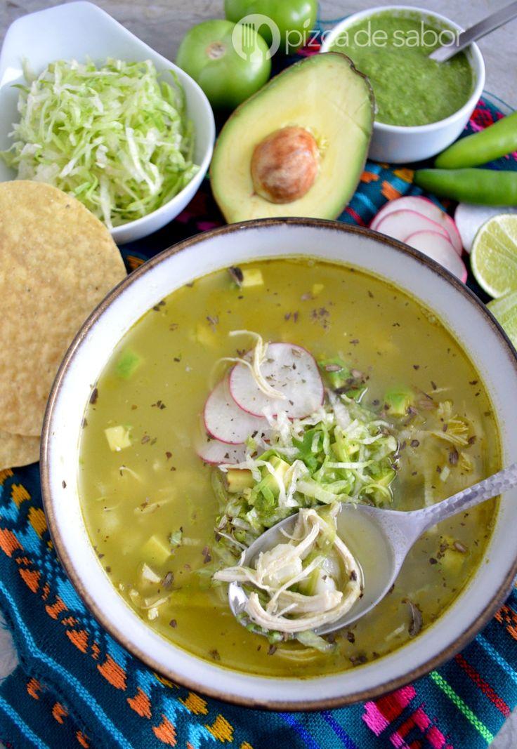 Cómo hacer pozole verde de pollo (muy fácil de preparar) www.pizcadesabor.com