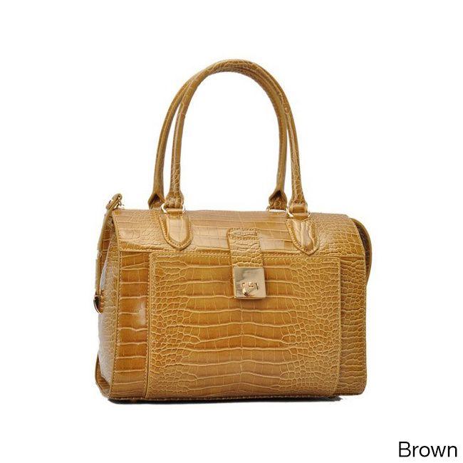 Oasis Handbag 'Essie' Glossy Pattern Satchel Bag