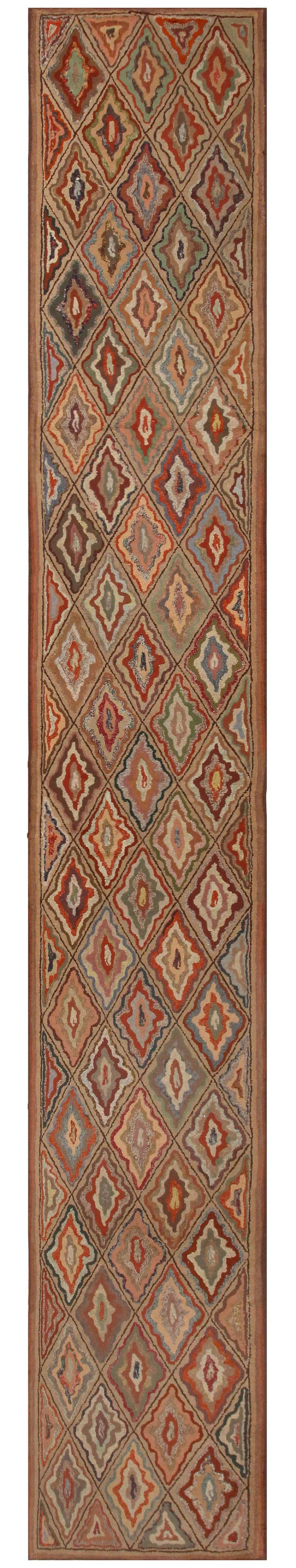 Antique American Hooked Rug 50108