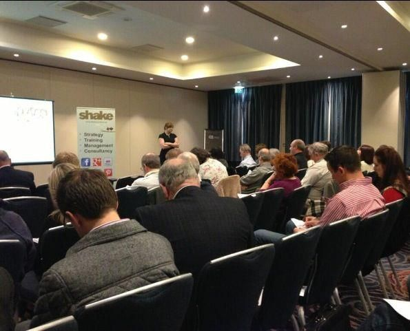 Presenting at a FSB conference on how best to use social media for small businesses.