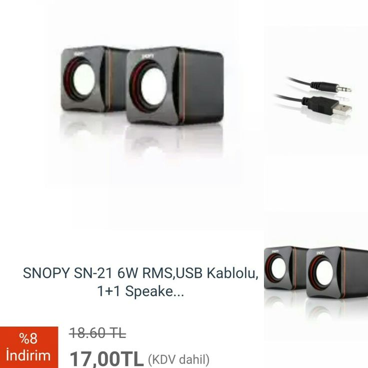 #SNOPY SN-21 6W RMS, USB Kablolu, 1+1 Speaker, Siyah  http://www.modahan.net/bilgisayar-tablet-notebook-notebook-aksesuarları-notebook-çantaları-notebook-soğutucular-laptop-masaüstü-bilgisayar-all-in-one-mini-masaüstü-kablosuz-ağ-ürünleri-network-print-server-barkod-el-terminalleri-klavye-mouse-k-81/cevre-birimleri-k-44/hoparlor-k-199/snopy-6w-rms-usb-kablolu-1-1-speaker-siyah-u-247.html