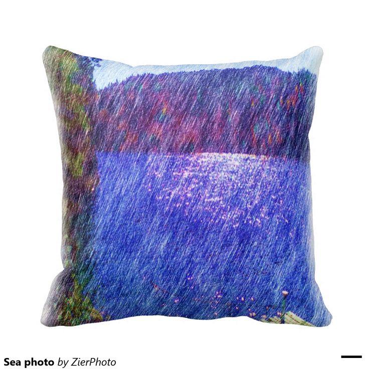 Sea photo pillows