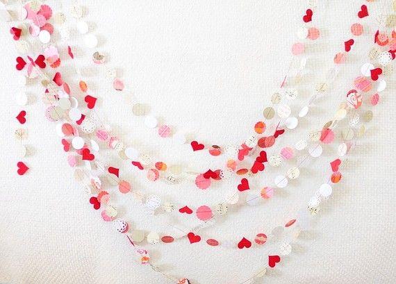 Festive heart garland.