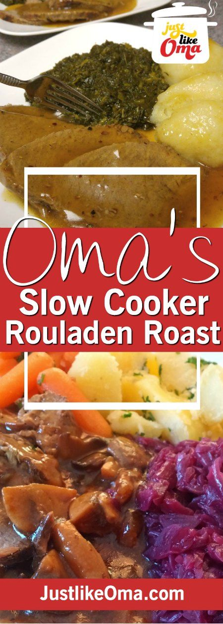 Try this slow cooker roast beef and you'll be amazed at how much this tastes like rouladen WITHOUT the work.