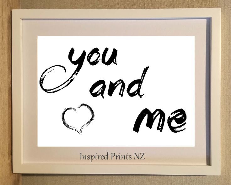 A4 Print You & Me by InspiredPrintsNZ on Etsy