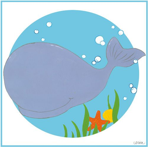 Wally the Whale Canvas Reproduction from PoshTots