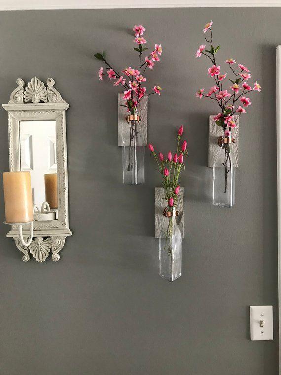 2 Wall Vases Wall Decor Vase Wall Decor Pallet Decor Pallet Wall Decor Wall Vase
